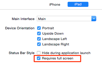 Soluzione all'errore: ERROR ITMS-90475 - Invalid Bundle iPad Multitasking support requires launch story board in bundle