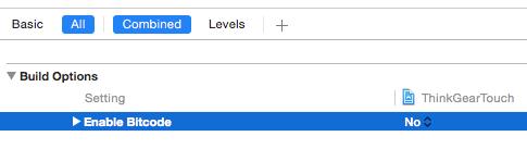 Xcode setting ENABLE_BITCODE
