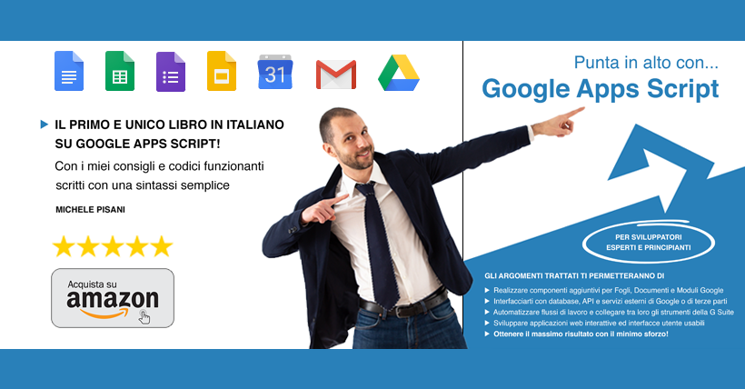 punta in alto con google apps script libro italiano