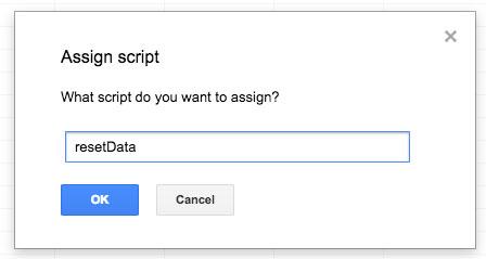 assegnare una funzione ad un bottone aggiunto ad uno spreasheet
