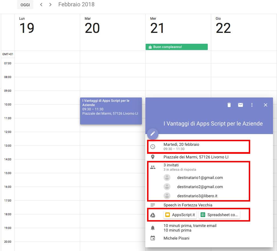 Creare Calendario Condiviso.Creare Un Evento Con Allegato In Google Calendar Apps Script
