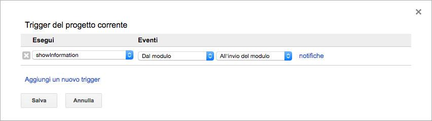 assegnare una funzione al submit del form