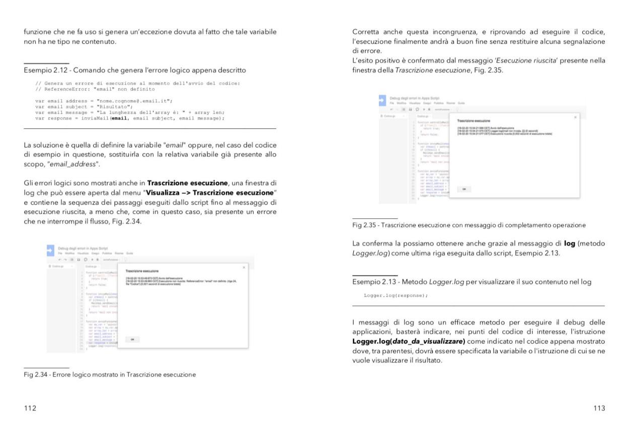 punta in alto con google apps script - identificare e risolvere gli errori