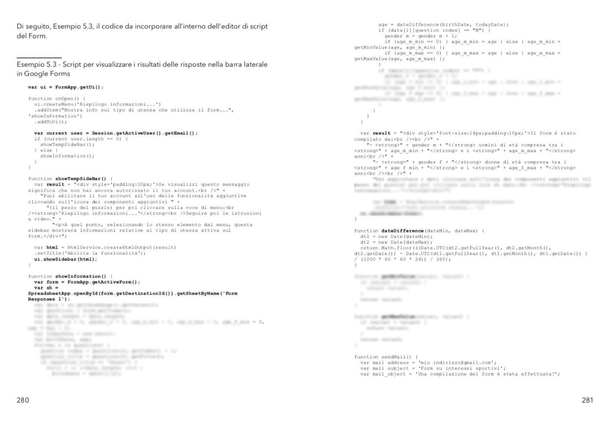 punta in alto con google apps script - interagire con i google forms