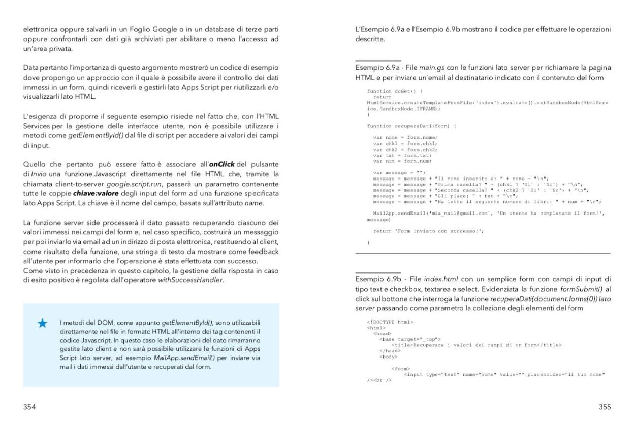 punta in alto con google apps script - recuperare i valori dei campi di un form