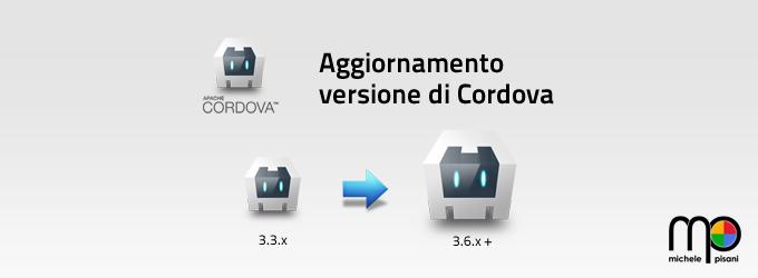 Aggiornare la versione di Apache Cordova per un progetto Android