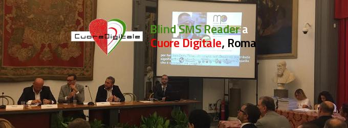 Blind SMS Reader al Campidoglio per Premio Cuore Digitale