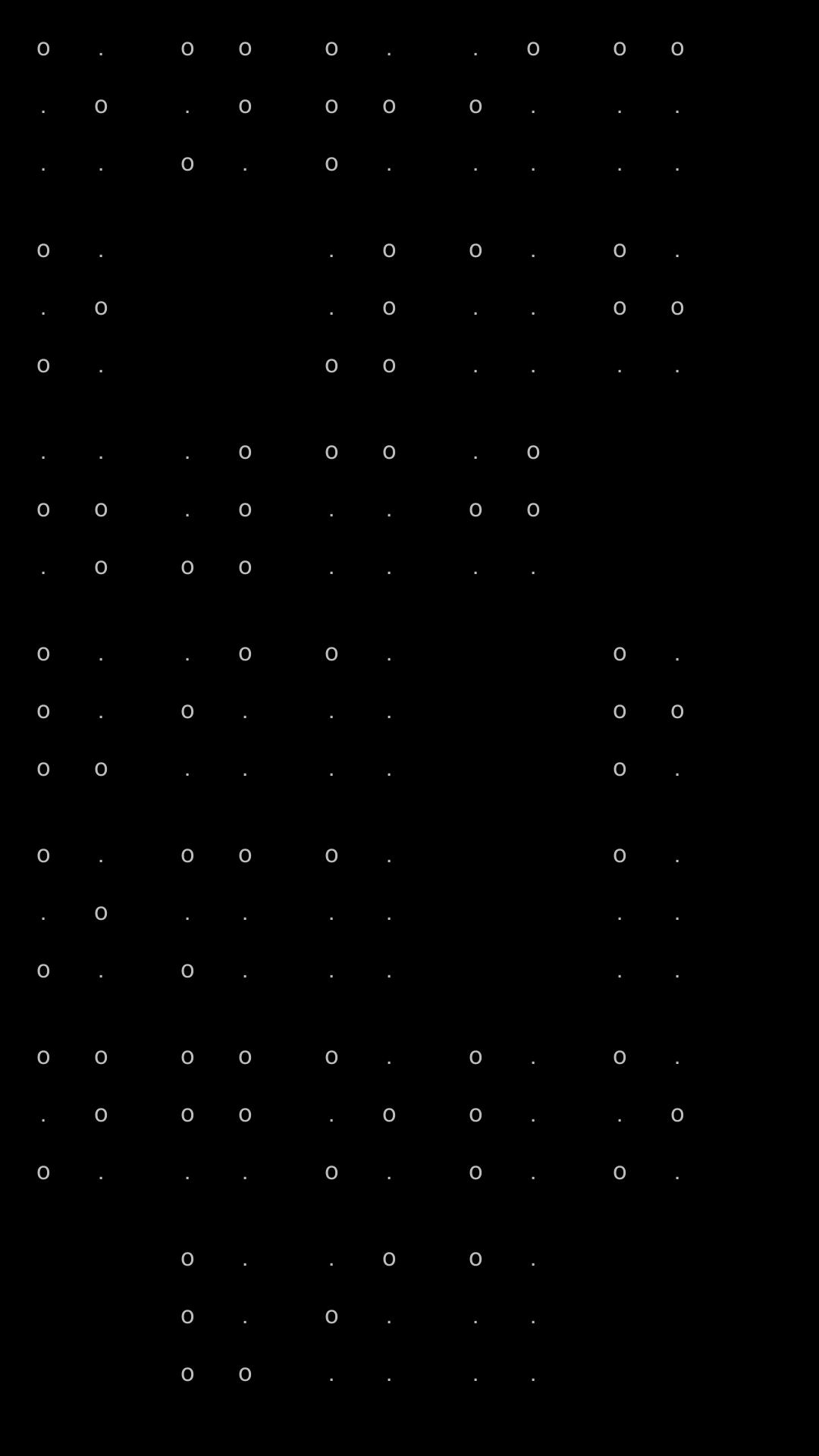 Blind SMS Reader - Schermata conversione in codice Braille