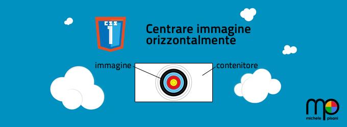 CSS - Centrare un'immagine orizzontalmente in un contenitore