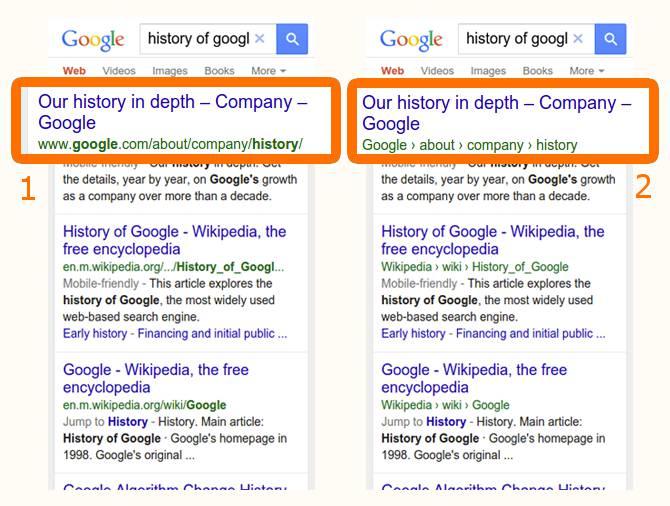 SEO - Google migliora la presentazione degli URL nelle SERP