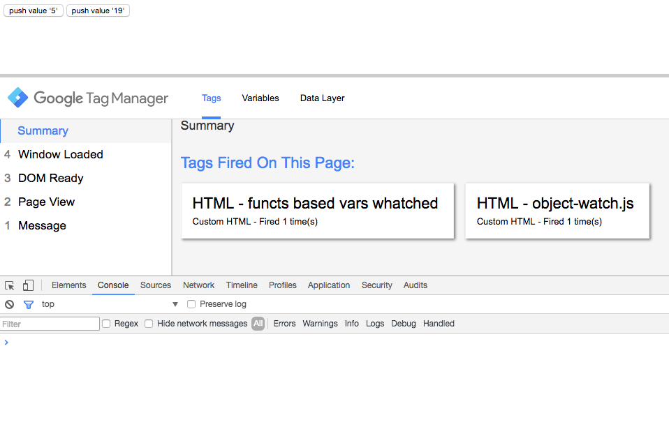 Google Tag Manager - metodo watch - avvio pagina web con gtm in preview