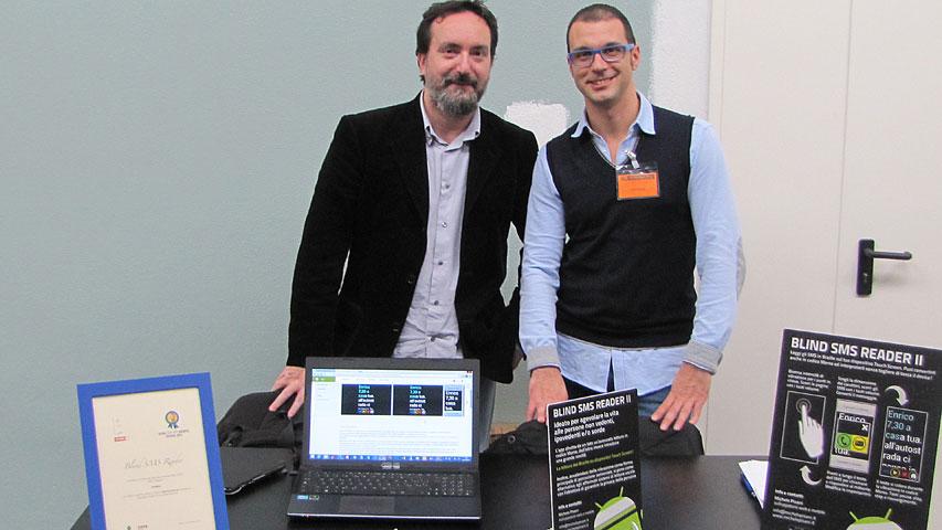 HANDImatica 2014 - stand Blind SMS Reader
