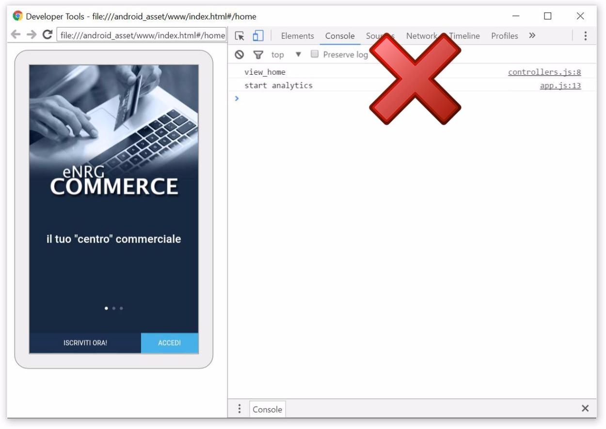 Ionic e Google Analytics - Tracciamento errato della prima schermata tramite trackView