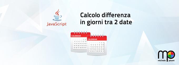 javascript - calcolare la differenza in giorni tra due date