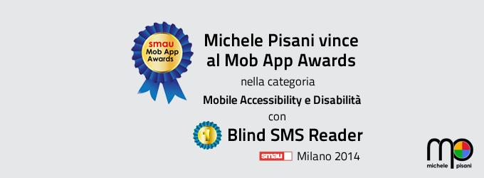 Michele Pisani vincitore del primo premio allo Smau App Awards 2014