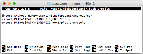 Android - bash: adb: command not found