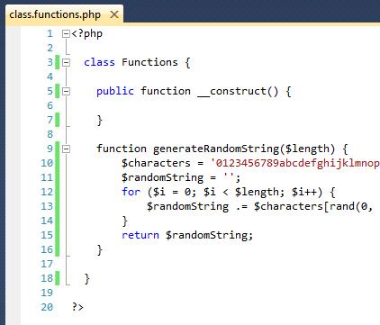 PHP - Risultato visivo del codice PHP con l'associazione a Microsoft Visual C++