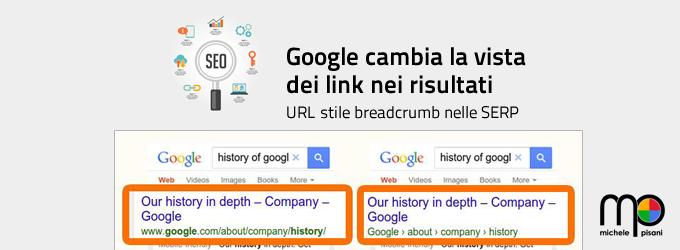 Google migliora la presentazione degli URL nei risultati di ricerca