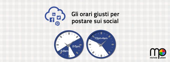 Gli orari migliori e quelli peggiori per postare sui Social Network