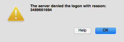 windows server - The server denied the logon with reason 3489661694