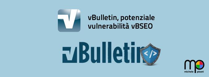 vBulletin - potenziale vulnerabilità nell'add-on vBSEO