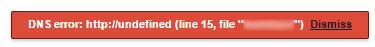 DNS error: https://undefined