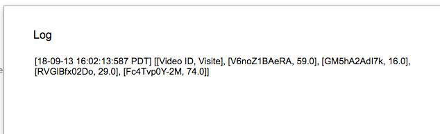 risultato della query mostrato nel file di log