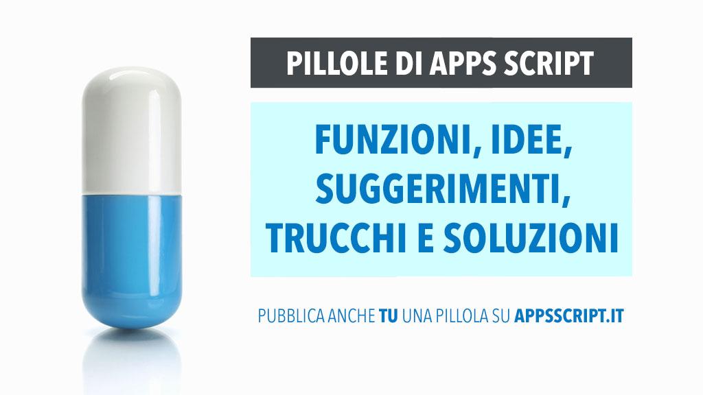 pillole di apps script