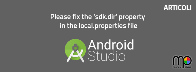 android please fix sdk.dir property in the local.properties file