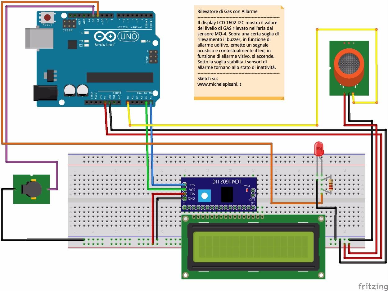 arduino - rilevatore di gas metano con allarme