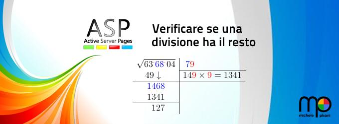 Calcolare il resto di una divisione in Classic ASP