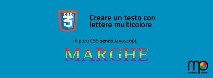 CSS3 - Creare un testo composto da lettere in multicolore