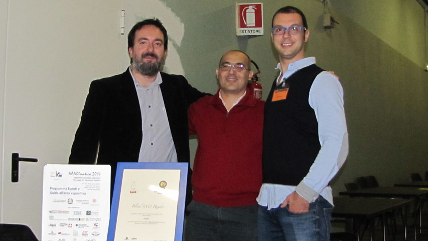 HANDImatica 2014 - Michele Pisani insieme al collega Roberto Cheli ed al vicepresidente della UIC di Livorno Alberto Corda