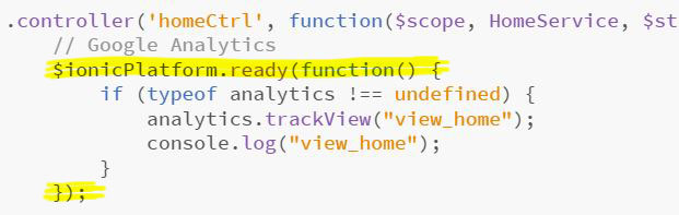 Ionic e Google Analytics - Tracciamento per la prima schermata tramite trackView
