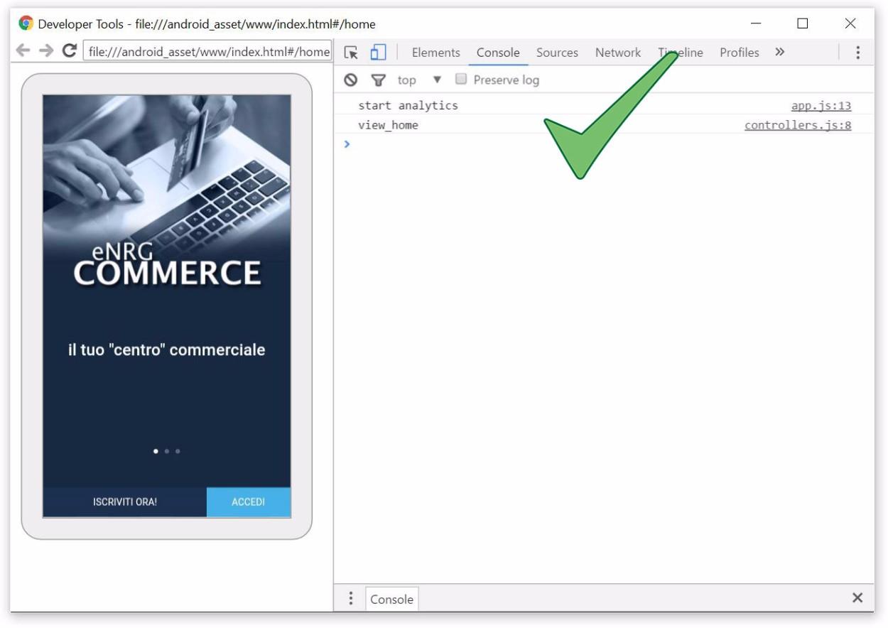 Ionic e Google Analytics - Tracciamento corretto della prima schermata tramite trackView