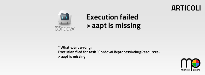 execution filed - aapt is missing