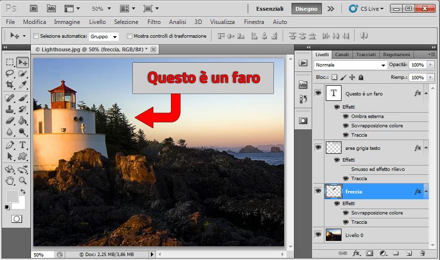 Photoshop -Come si presentano i livelli elaborati