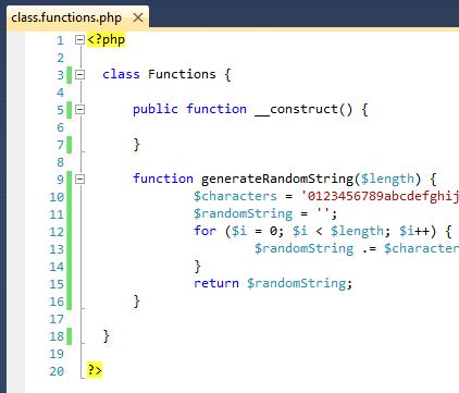 PHP - Risultato visivo del codice PHP dopo l'installazione del prodotto PHP Language Support