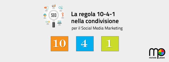 La regola 10:4:1 come piano editoriale sui social network